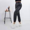 Black women's eco-leather pants - Trousers