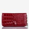 Burgundy large eco leather wallet with quilted finish - Wallet 1
