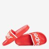 Children's red slippers with Super inscription - Footwear