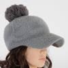 Gray ladies 'cap with a pompom - Caps