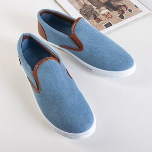 Groman blue denim slip on men's - Footwear