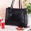 Ladies' black bag with fringes - Handbags