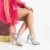 Light gray women's boots on a high heel Lotega - Footwear