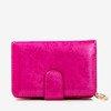 Patterned small women's wallet in fuchsia color - Wallet