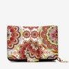 Patterned small women's wallet in red - Wallet