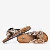 Rose-gold women's slippers with a bow Isydora - Footwear