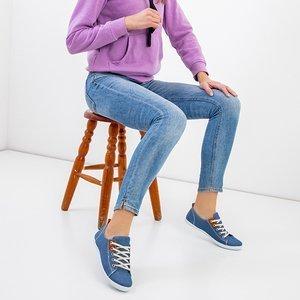 Sindri Blue Women's Lace-Up Sneakers - Footwear
