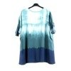 Turquoise women's tunic with silver inscriptions - Blouse 1