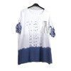 White women's tunic with silver writing - Blouse 1