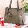 Women's khaki fringed bag - Handbags